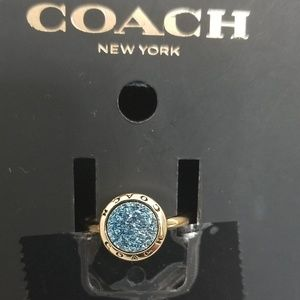 🔆Host pick!!🔆Coach blue crystals ring size 6